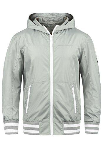 Blend Novan Herren Übergangsjacke Herrenjacke Jacke mit Kapuze, Größe:L, Farbe:Stone Grey (75117)
