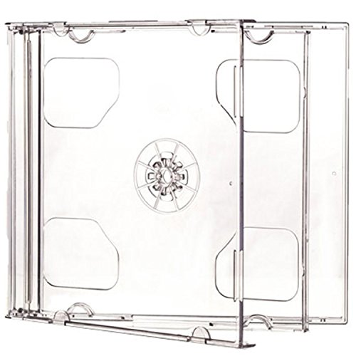Estuche doble para CD de 10,4 mm para 2 discos con bandeja transparente (paquete de 10) Dragon Trading®