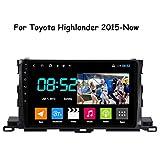 HP CAMP Navigation für Auto for Toyota Highlander 2015-Now Stereo Car DVD Player Navigation GPS Radio, BT/Rückfahrkameraeingang/WiFi/FM/SWC/Musikvideo,4G WiFi 2G+32G