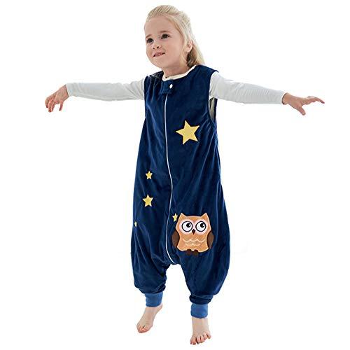 YZNlife Baby Schlafsäcke mit Beinen und Füßen, Ganzjahres Kleinkinder Schlafsack mit Reißverschluss, Ärmelloses Schlafanzug für mädchen und Junge …