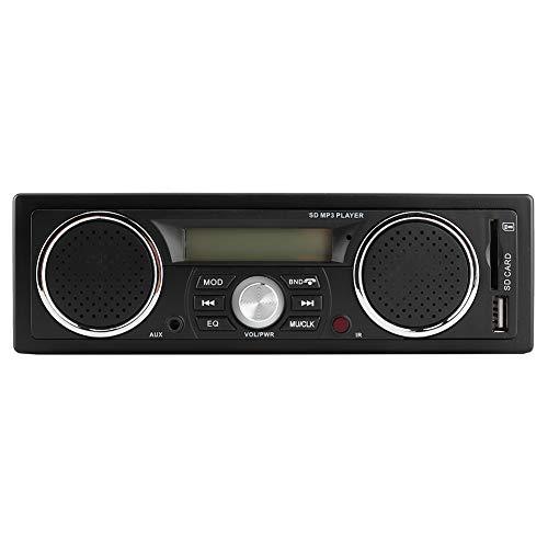 Multimedia-Autoradio, 12-V-Auto-MP3-Radio-Audio-Player Eingebautes Bluetooth3.1 3-Lautsprecher unterstützen USB/TF-Kartenleser / MP3 / WMA