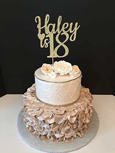 Tortenaufsatz für Geburtstagskuchen zum 18. Geburtstag oder zum 18. Geburtstag