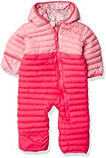Columbia Baby Girls Powder Lite Reversible Bunting, Bright Geranium/Pink Orchid, 3-6 Months