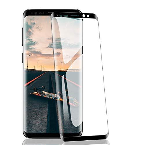RIIMUHIR-2 Pack Verre Trempé pour Samsung Galaxy S8, Dureté 9H, sans Bulles, HD Transparent, Haute Sensibilité, Résistant à l'huile