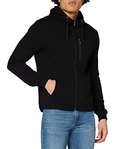 Lee Cooper Eco Zipp UP Hoodie Maglione Cardigan, Schwarz, L Regular  Uomo