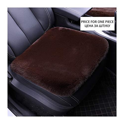 Lanxing Kaninchen-Pelz-Kissen-Winter-Plüsch-Kissen Nein Rückenlehne Einzelstück Wolle Autositz Winter-Wolle-1 Stück (Color Name : Brown seat Cushion)