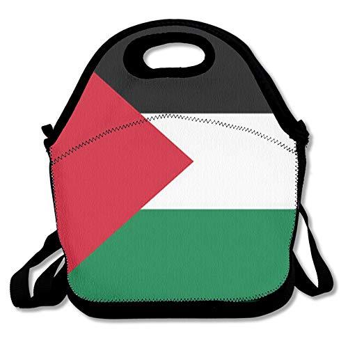Bolsa de almuerzo para alimentos, bolsa térmica con bandera de Palestina, nevera para mujeres, hombres, trabajos, estudiantes y niños a la escuela
