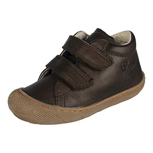 Naturino Baby Boys Infant Adjustable Straps Leather Casual Walking Shoes,Brown,21