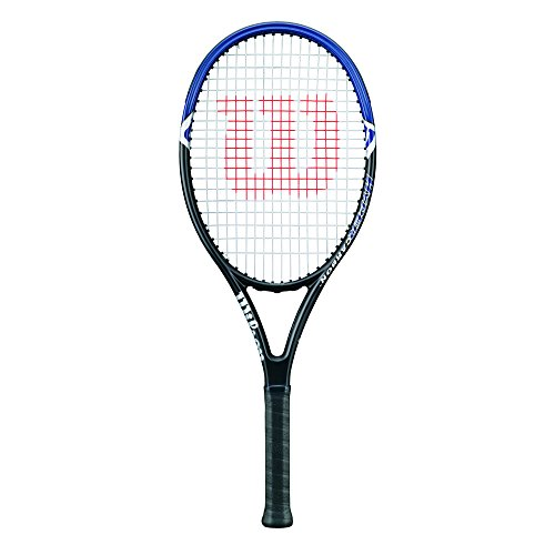 Wilson Damen/Herren-Tennisschläger, Anfänger, Hyper Hammer 2.3 110, Griffstärke 3, Grafit, grau/blau, WRT65950U3