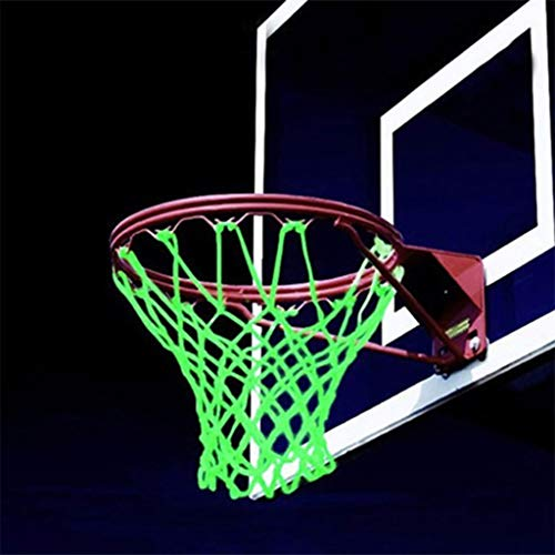 %59 OFF! YJYdadaS 1PC Fluorescent Basketball Net Outdoor Basketball Rim Net Glow in The Dark Nylon G...