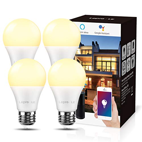 LE Bombilla LED Inteligente WiFi Ajustable, Smart WiFi E27 9W = 60W, Control Remoto y Control de Voz,...