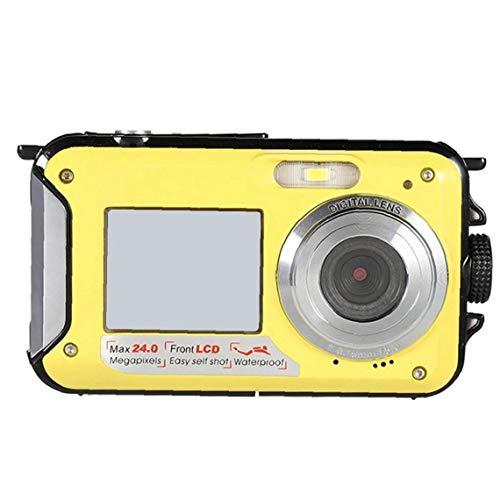 GGOOD Submarina cámara Digital de la cámara 48MP cámara Impermeable con Doble Pantalla para bucear Surf natación Amarillo, Fotografía
