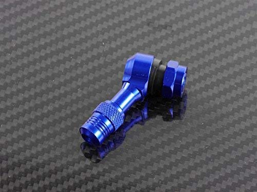 CNC - Válvula Angular de Aluminio 112,5 Grados, Color Azul, Apta para Honda Silver Wing 400 NF01 2006