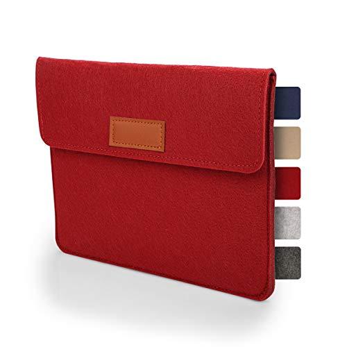 Sølmo - Funda para tablet de 7 a 8 pulgadas de fieltro, universal, para iPad, Samsung, Huawei, funda para iPad y tablet, color rojo vino