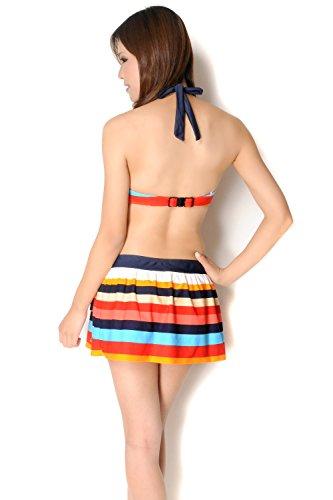『(ラコステ) LACOSTE スカート付きビキニ水着3点セット sw1399』の5枚目の画像