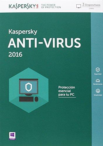 Kaspersky - Antivirus 2016 (3 Postes, 1 An)