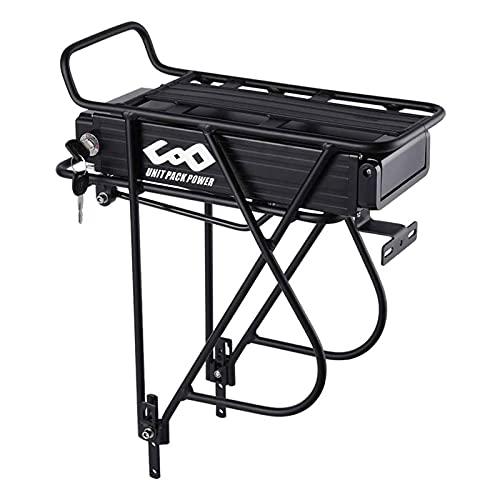 (DE Warehouse) Gepäckträger Ebike-Akku 48V 15Ah Lithium-Ionen-Akku für Erwachsene Elektrofahrrad, Mountainbike-Akku passend für 1000W 750W 500W 350W Fahrradmotor-Kit (48V 15Ah (100-1000W) & 30A BMS)