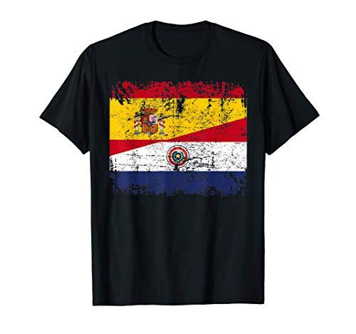 PARAGUAY Camiseta ESPAÑA BANDERA de la AMISTAD PARAGUAY Camiseta