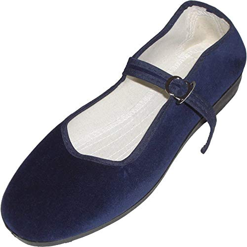 Samt Ballerina CHINA FLAT midnight blue 39