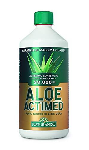 NATURANDO ALOE ACTIMED 1L Puro succo di Aloe Vera con massima concentrazione di polisaccaridi
