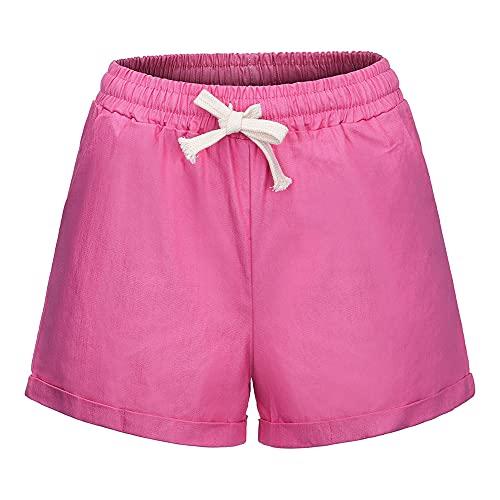 N\P Pantalones cortos de verano para mujer, con cordón, casual, para correr, gimnasio, deportes, verano