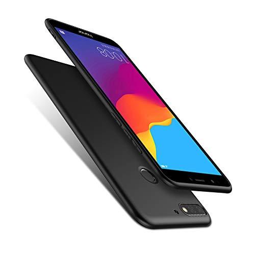 Olliwon Huawei Y7 2018 Hülle, Dünn Leichte Schutzhülle Schwarz Silikon TPU Bumper Case Cover für Huawei Y7 2018 - 2