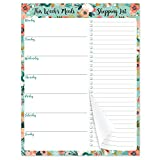 Weekly Meal Planner - Grocery List Magnetic Notepads 7' x 9' Meal Planning Pad with Tear Off Shopping List for Convenient Shopping - Notepad with Magnet for Refrigerator or Desk
