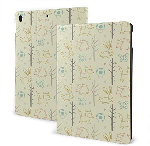 Polka Dot Case for New iPad 7th Generation 10.2 Inch 2019 Multi-Angle Viewing Folio Smart Stand Cover Auto Wake/Sleep for iPad 10.2' Tablet-Gold Black Tropical Leaves-One Size