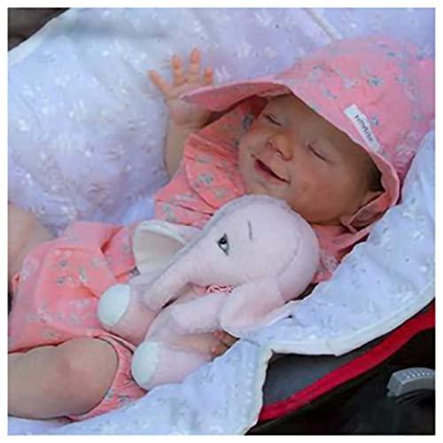jingmei MuñEca En Miniatura - 18 Pulgadas 46Cm MuñEca ReciéN Nacida - Suave Y Realista NiñO Renacido, It Is The Best Gift For Children