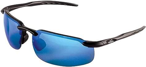 Bullhead Safety Eyewear BH106129 Swordfish, Matte Black Frame, Polarized Blue Mirror Lens, Black TPR Nose & Temple (1 Pair)
