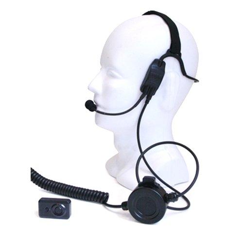 New Impact K2-PTHS-WPTT Bone Conduction Headset for Kenwood Multi-Pin TK-3140 NX-300 Radios (See Des...
