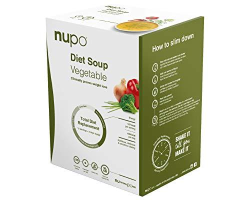 NUPO Diet Soup Vegetable – Premium Diät-Suppe zum Abnehmen I Klinisch geprüfter Mahlzeitersatz für effiziente Gewichtsabnahme I 12 Portionen I Very low calorie diet, glutenfrei, GMO frei