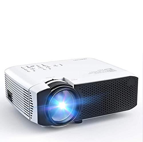 Proyector, Mini proyector portátil, 4500 lúmenes, Soporte 1080P máximo 180'Pantalla LCD de Cine en casa HDMI/VGA/USB/SD/AV Entrada Compatible con Chromecast (Blanco)