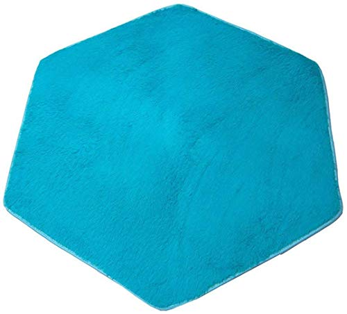 WESTLINK Hexagon Rug Pad Mat for Kids Playhouse Play Tent, Soft Coral (Blue)