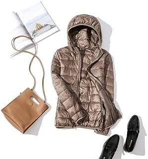 Fashion Keep Warm Ultra Light Down Jacket New Parkas Basic Winter Jackets Female Women Velvet Hooded Coats Autumn Down Jacket Womens Outwear (Color : Clear, Size : XL)