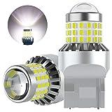 AGLINT T20 LED Lampadine Estremamente Luminoso 57SMD W21W 7440 12V 24V per Auto Retromarcia Parcheggio Luci Girare Segnale Freno Posteriori Posizione Lampadina Bianco 2 Pezzi
