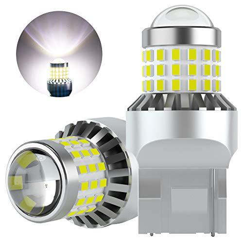 AGLINT 1156 LED Bombillas 57SMD P21W BA15S 1141 12V 24V Para RV Camper Luz Coche Luces Traseras Luz de Marcha Trás Señal de Giro Luz Diurnas Luces 6000K Blanco 2 Piezas (W21W/T20/7440/7443)