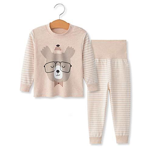 YANWANG 100% algodón Baby Boys Pijamas Set Ropa de Dormir de Manga Larga (6M-5años) (Tag70 (4-5 años), Patrón 1)