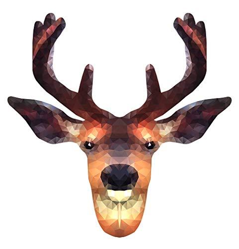 autocollant mural salon Tête de cerf dans un design efficaMotif animal les ani