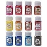 Pigmento de resina epoxi BAIRU 12 colores natural de mica mineral en polvo perlado pigmento colorante para bricolaje maquillaje joyería fabricación de jabón
