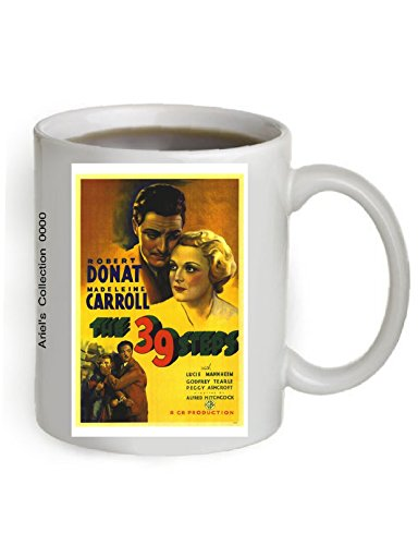 The 39 Steps Movie Poster Coffee Mug 11OZ. (The Poster is printed on both sides of the Mug).