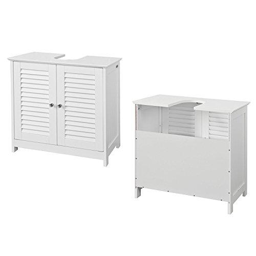 SoBuy® FRG237-W Waschbeckenunterschrank Badschrank Unterschrank in weiß BHT ca: 60x58x34cm 3