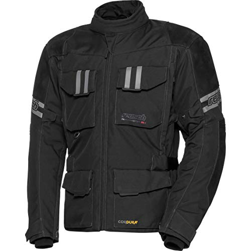 Reusch Motorradjacke mit Protektoren Motorrad Jacke Roadmaster DL+ Jacke schwarz XXL, Herren, Tourer, Ganzjährig, Leder/Textil