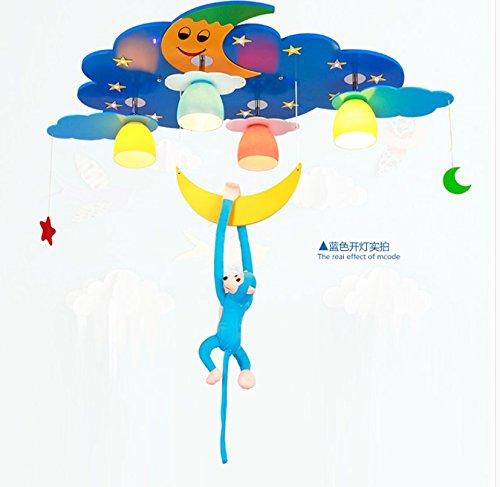 owow simple moderne salle pour enfants merveilleux et refroidir LED singe de balancement plafonnier pour les garçons ou filles séjour Décoration plein d'imagination, 78 * 60 cm