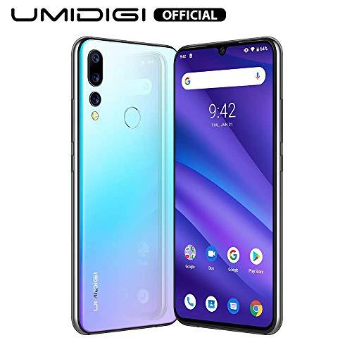 UMIDIGI A5 Pro Unlocked Mobile Phones Free Dual 4G Smartphone 16MP+8MP+5MP Camera Smartphones 32GB ROM 4GB RAM 4150mAh Battery 6.3' FHD+ Android 9 Pie (Blue)