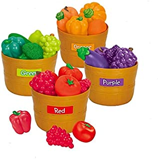 AMERTEER Kitchen Playset, Color Sorting Set, Home-school, Play Food, Fruits and Vegetables Toy For Girls & Boys