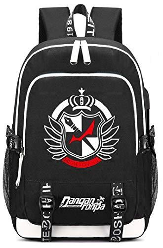 Siawasey Anime Danganronpa Zaino Cosplay Daypack Bookbag Laptop Borsa Scuola con Porta di Ricarica USB
