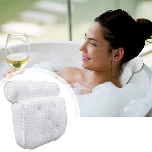 Yinuoday Oreiller de bain pour spa, coussin de baignoire antidérapant avec support de cou, coussin de bain épais pour le cou pour tous les accessoires de baignoire, jacuzzi et spa à domicile