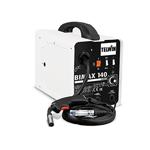 Telwin 821076 Bimax 140 Turbo Soldadora de hilo Flux e Mig-Mag, 230 V
