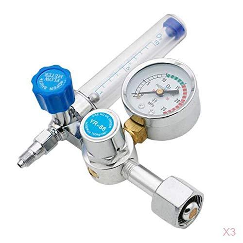 #N/A/a Reguladores de Caudalímetro Reductor de Oxígeno de 3 Piezas, Válvula de Descompresión, Filtro de Cobre